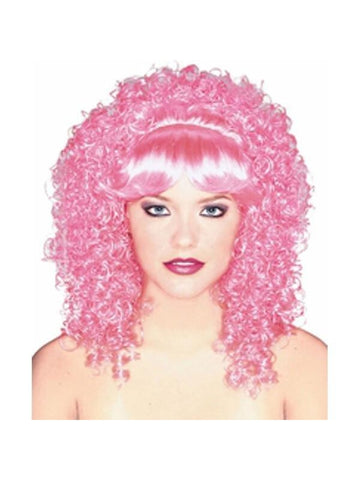 Adult Curly Pink Wig