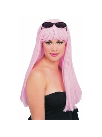Light Pink Glamour Wig-COSTUMEISH