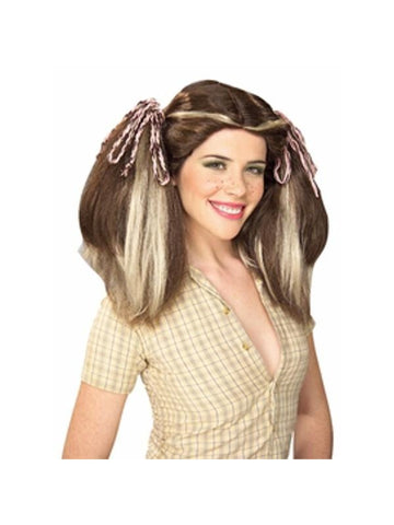 Brown Farm Girl Wig