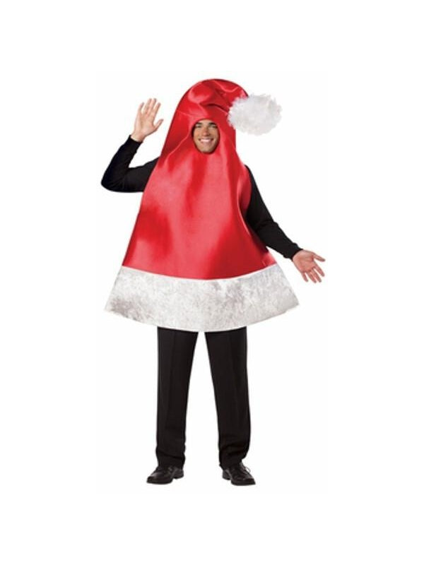 Adult Giant Santa Hat Costume-COSTUMEISH