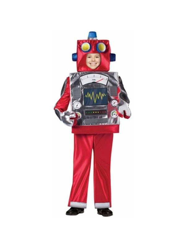 Child Retro Robot Costume-COSTUMEISH