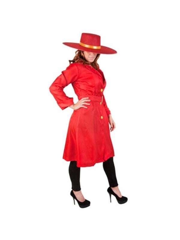Adult Red Carmen San Diego Costume-COSTUMEISH