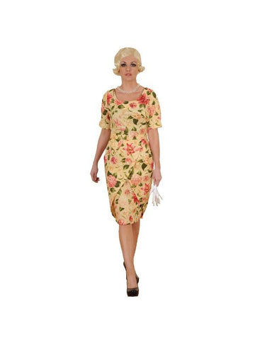 Adult Marilyn Floral Dress Theater Costume