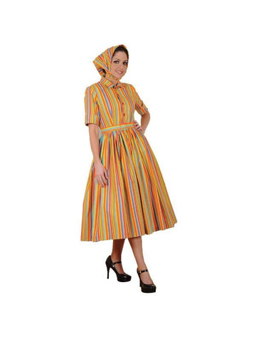 Adult Bold 60's Colors Dress Theater Costume