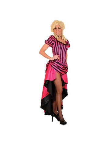 Adult Pin-Stripe Saloon Girl Theater Costume