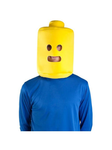 Adult Yellow Block Man Headpiece-COSTUMEISH