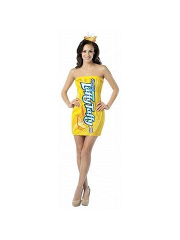 Adult Laffy Taffy Banana Tube Dress-COSTUMEISH