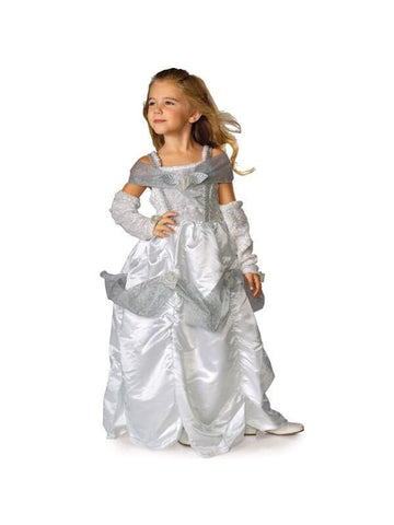 Child Snow Queen Costume Dress-COSTUMEISH