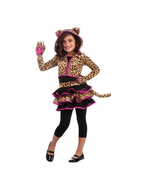 Girl's Drama Queens Leopard Hoodie Costume-COSTUMEISH