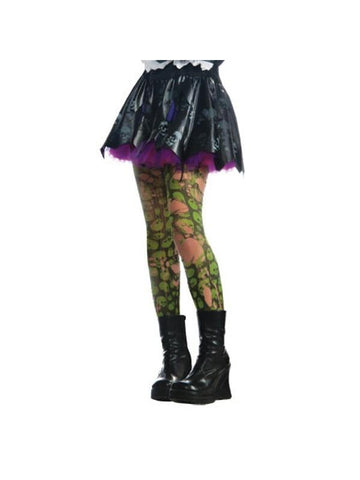 Tattered Green Zombie Tights-COSTUMEISH
