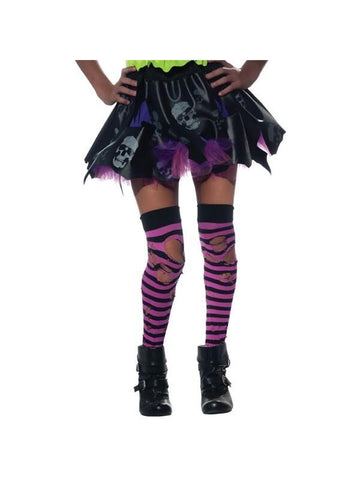 Striped Tattered Tights-COSTUMEISH