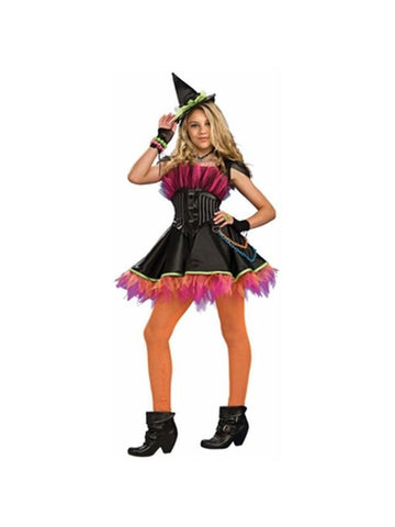 Teen Punk Rock Witch Costume-COSTUMEISH