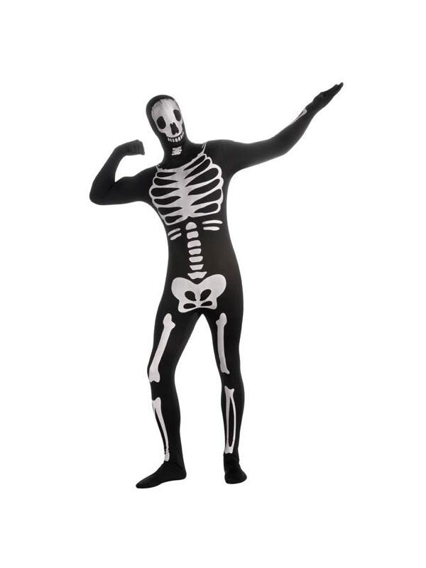 Adult 2nd Skin Skeleton Morph Suit Costume-COSTUMEISH