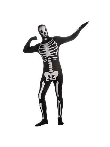 Adult 2nd Skin Skeleton Morph Suit Costume