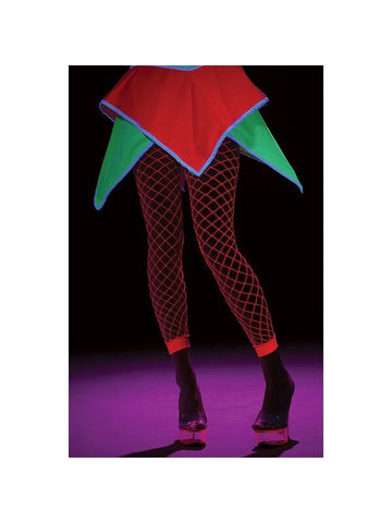 Hot Pink Fishnet Leggings-COSTUMEISH