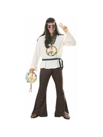Adult Earth Tone Hippie Costume