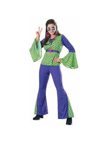 Adult Green & Purple Hippie Costume