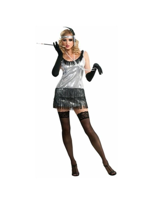 Adult Sexy Flapper Costume-COSTUMEISH