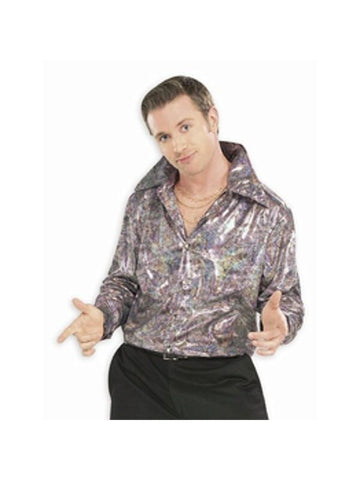Adult Purple Disco Shirt-COSTUMEISH