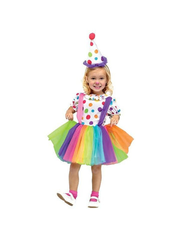 Childs Cute Little Clown Dress