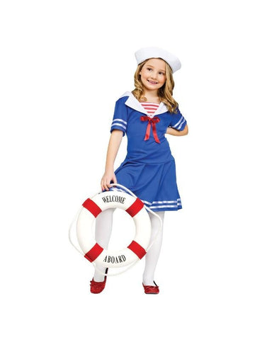Childs Sailor Girl Costume-COSTUMEISH