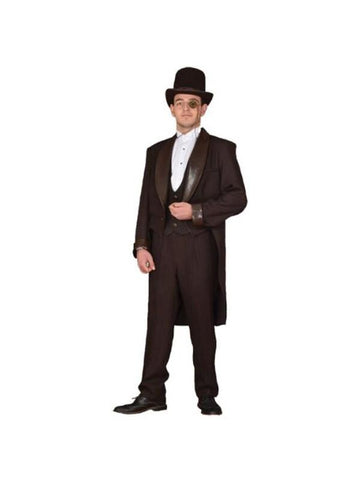 Adult Brown Steampunk Gentleman's Suit Theater Costume