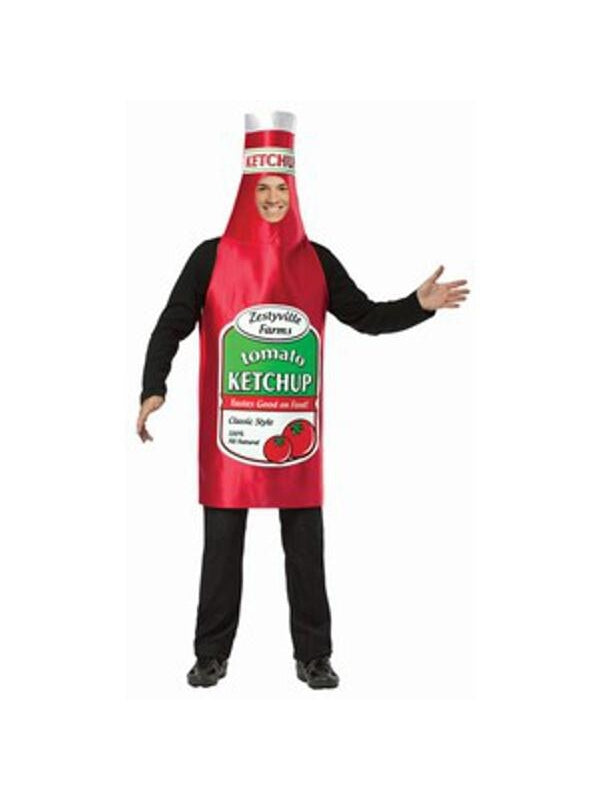 Adult Zestyville Ketchup Bottle Costume-COSTUMEISH