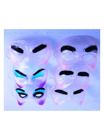 Transparent Drama Half Masks-COSTUMEISH