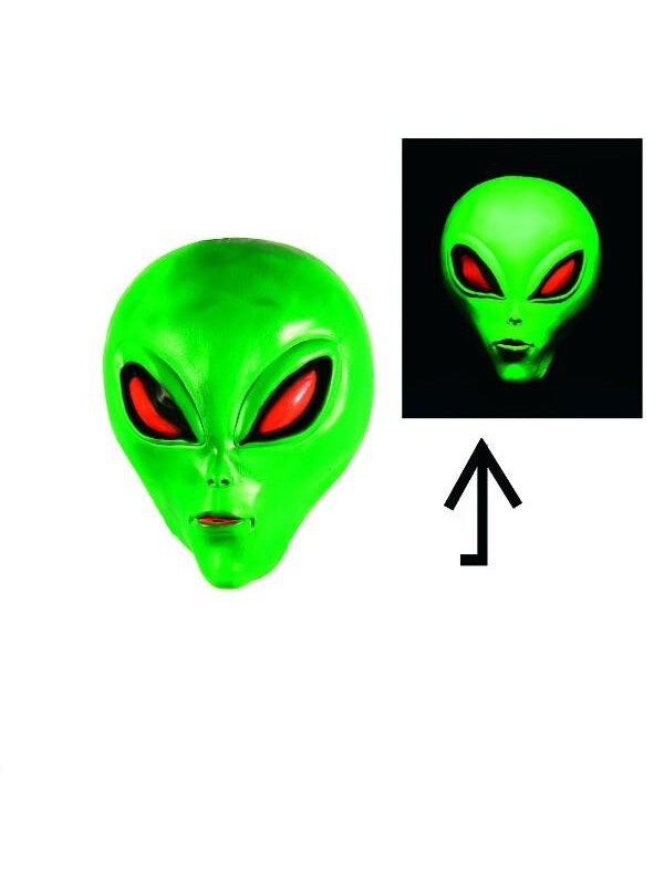 Glow in the Dark Alien Masks-COSTUMEISH
