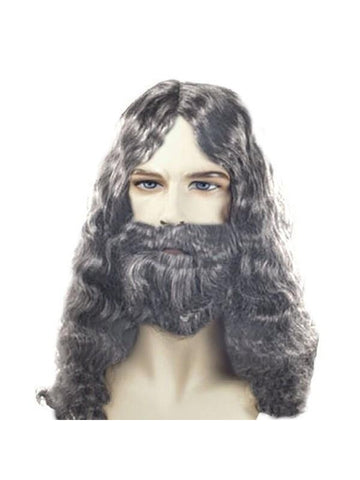 Men's Quality Grey Biblical Wig and Beard-COSTUMEISH