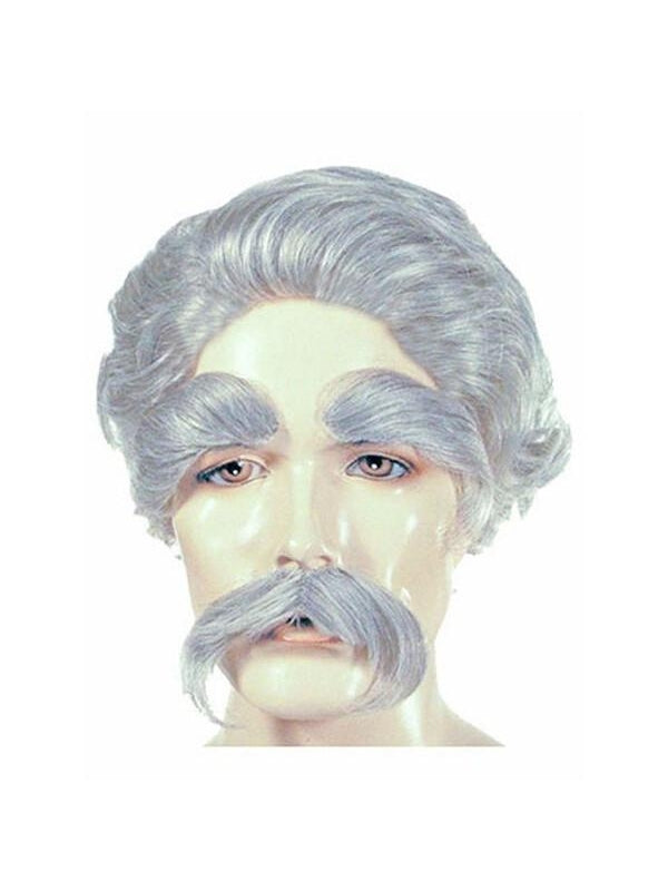 Men's Mark Twain Costume Wig-COSTUMEISH