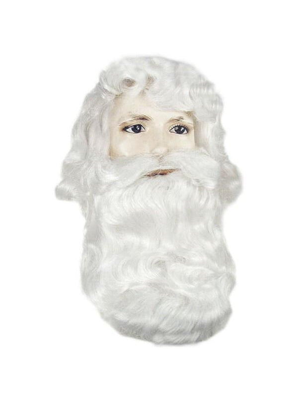 Men's Classic Santa Clause Wig And Beard Set-COSTUMEISH
