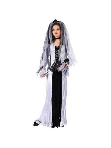 Child Skeleton Bride Costume-COSTUMEISH