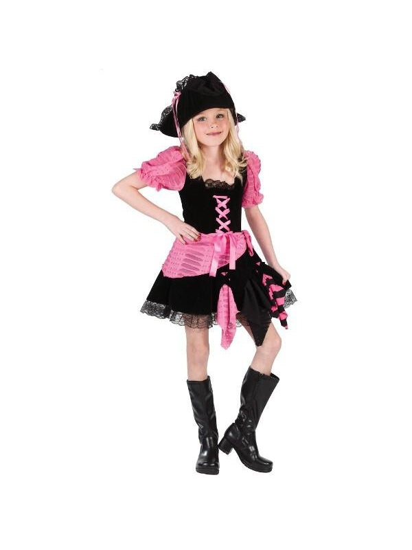 Child Pink Punk Pirate Costume-COSTUMEISH