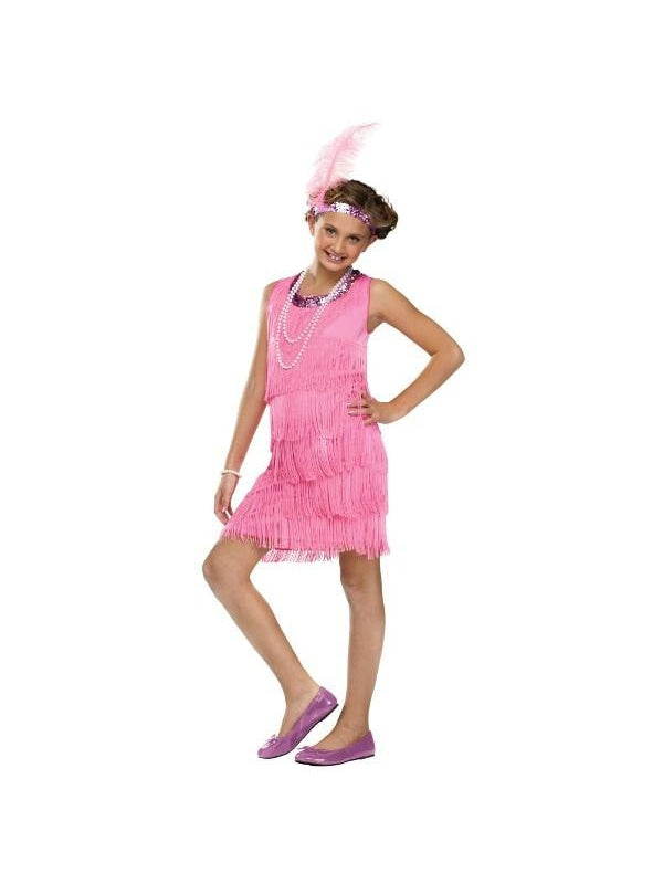 Child Pink Flapper Costume-COSTUMEISH