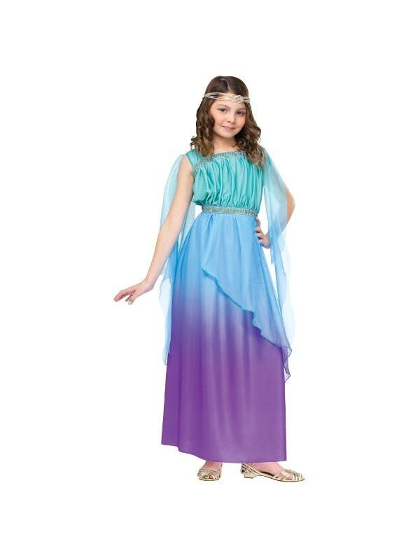 Child Blue & Purple Goddess Costume-COSTUMEISH