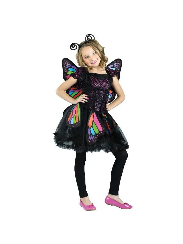 Child Rainbow Butterfly Costume-COSTUMEISH