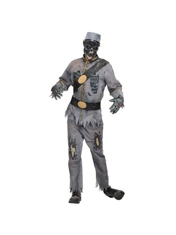 Adult Rebel Grey Zombie Costume-COSTUMEISH