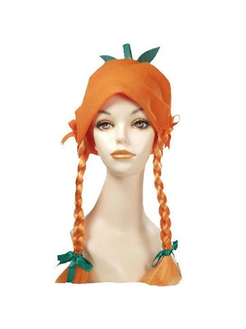 Pumpkin Hat with Braided Hair Wig