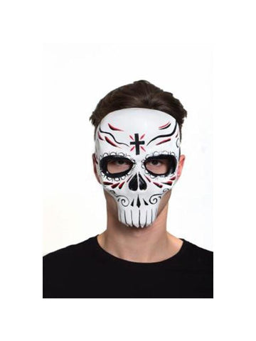 Day Of Dead 3/4 Face Mask-COSTUMEISH