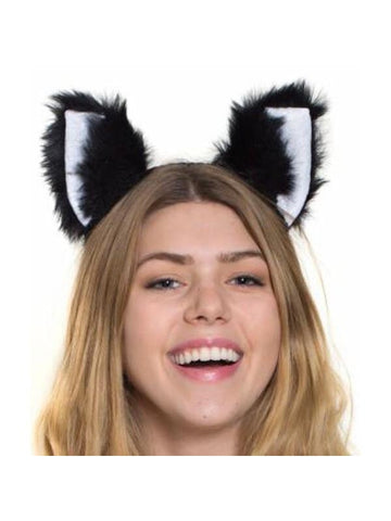 Plush Kitty Ears On Headband