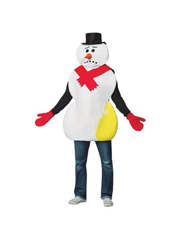 Adult Yellow Snowman Costume-COSTUMEISH