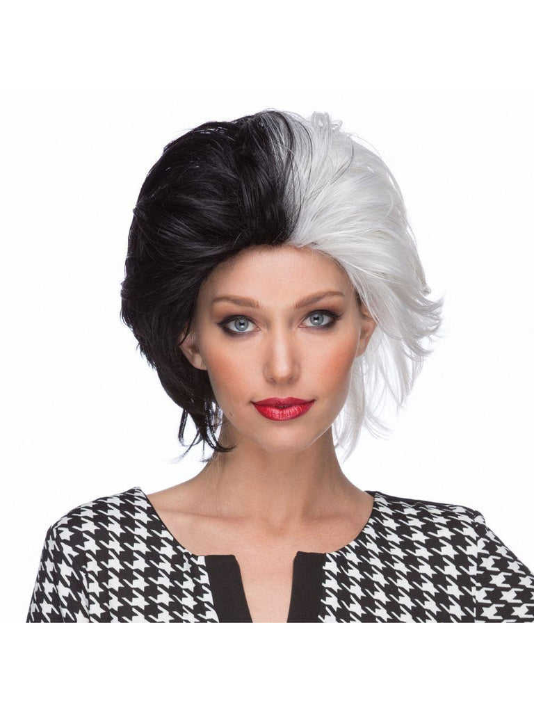 Black & White Wicked Wig-COSTUMEISH