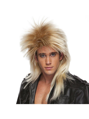 Mixed Blonde 80's Rocker Wig-COSTUMEISH