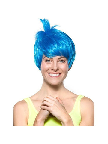 Women's Blue Joy Pixie Wig-COSTUMEISH
