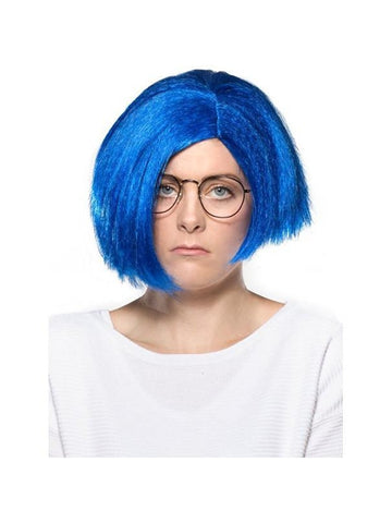 Women's Blue Sadness Short Hair Wig