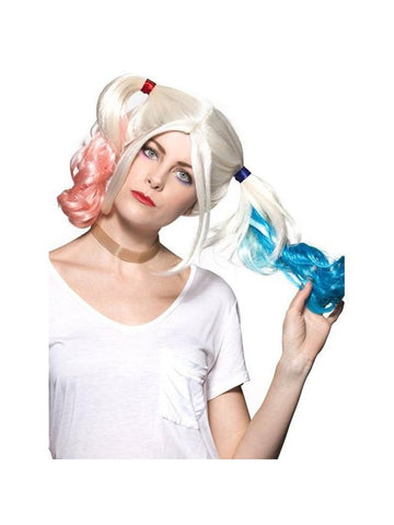 Women's Long Blond Harlequin Joker Wig