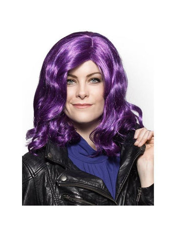 Women's Mal Purple Long Hair Wig