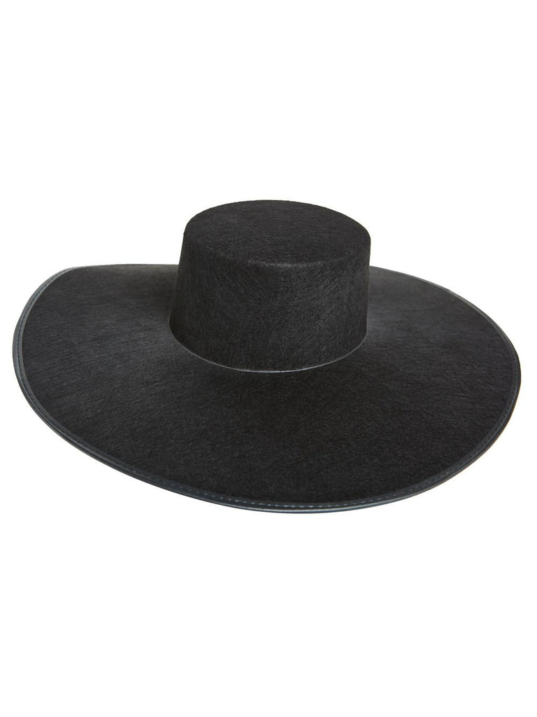 Formation Wide Brim Black Hat-COSTUMEISH