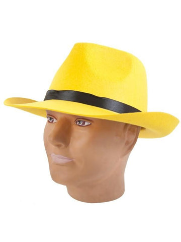 Yellow Dick Tracy Costume Hat-COSTUMEISH